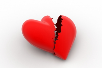 Broken Heart Sign, Loss Of Love Concept by cuteimage